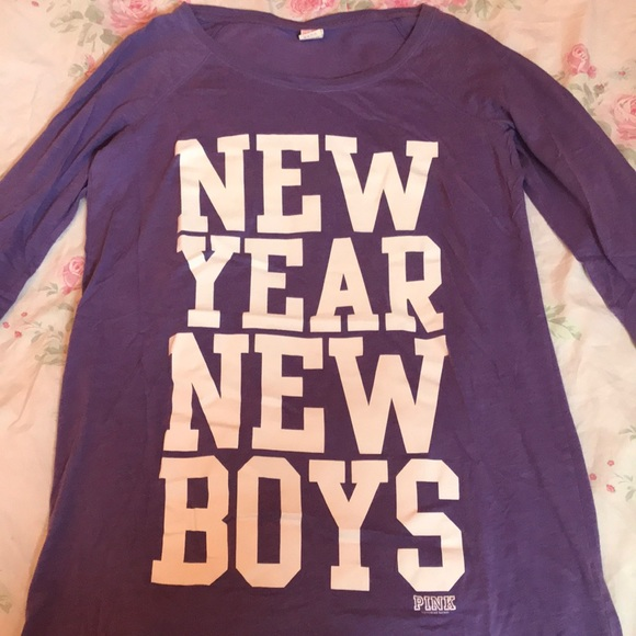 "PINK Victoria's Secret Other - Victoria's Secret PINK ""New Year New Boys"" Shirt"